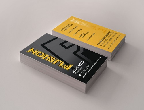 FUSION Logo and Business Card